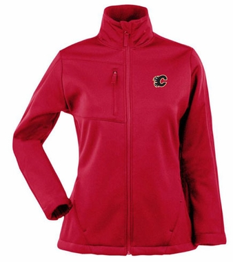 Calgary Flames Womens Traverse Jacket (Color: Red)