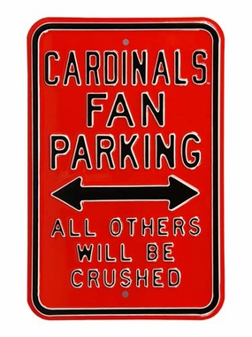 Cardinals Crushed Parking Sign
