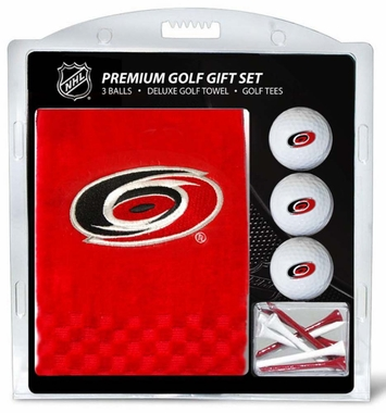 Carolina Hurricanes Embroidered Towel Golf Gift Set