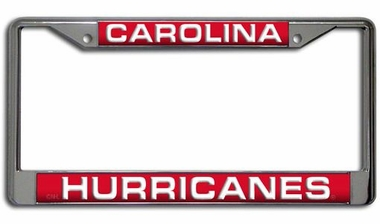Carolina Hurricanes Laser Etched Chrome License Plate Frame