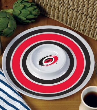 Carolina Hurricanes Plastic Chip and Dip Plate