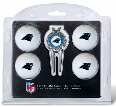 Carolina Panthers 4 Ball and Divot Tool Set