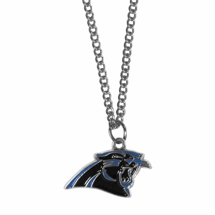 carolina panthers chain necklace with small charm f. Black Bedroom Furniture Sets. Home Design Ideas
