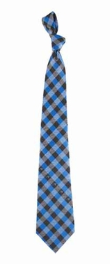 Carolina Panthers Check Poly Necktie