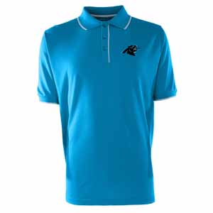 Carolina Panthers Mens Elite Polo Shirt (Color: Aqua) - Medium