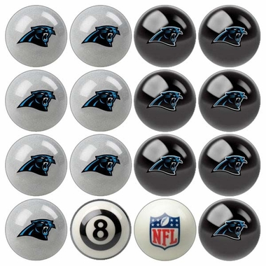Carolina Panthers Home and Away Complete Billiard Ball Set