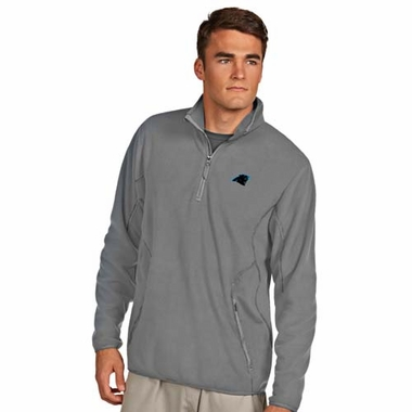 Carolina Panthers Mens Ice Polar Fleece Pullover (Color: Silver)
