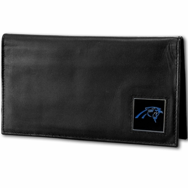 Carolina Panthers Leather Checkbook Cover (F)