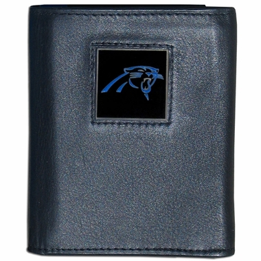 Carolina Panthers Leather Trifold Wallet (F)