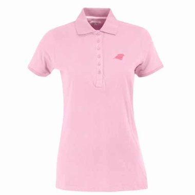 Carolina Panthers Womens Spark Polo (Color: Pink)