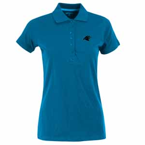 Carolina Panthers Womens Spark Polo (Color: Aqua) - Large
