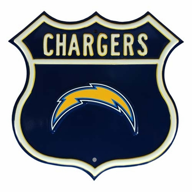 Chargers W Chargers Route Sign