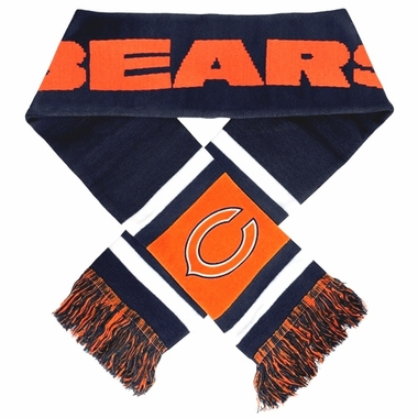 Chicago Bears 2012 Team Stripe Knit Scarf