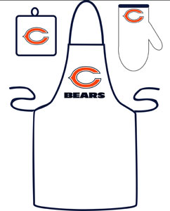 Chicago Bears Grilling Apron Set