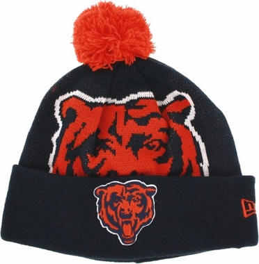 Chicago Bears Biggie Cuffed Knit Hat
