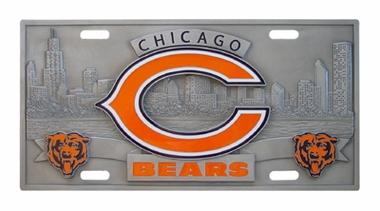 Chicago Bears Deluxe Collector's License Plate