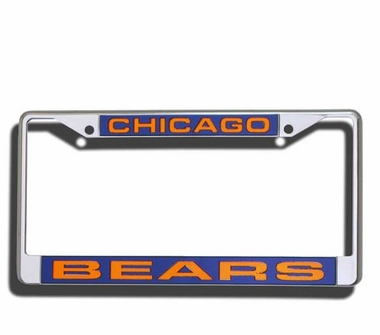 Chicago Bears Laser Etched Chrome License Plate Frame