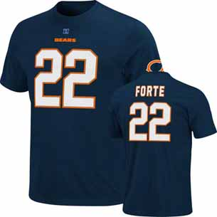 Chicago Bears Matt Forte Eligible Receiver Player T-Shirt - Large