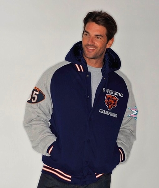 Chicago Bears NFL Defender Super Bowl Commemorative Detachable Hooded Jacket