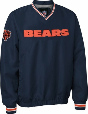 Chicago Bears NFL Pre-Season Wordmark Pullover Navy Jacket