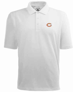 Chicago Bears Mens Pique Xtra Lite Polo Shirt (Color: White)