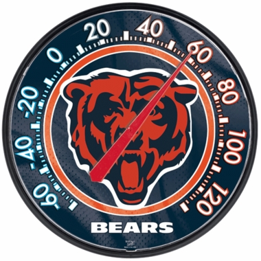 Chicago Bears Round Wall Thermometer