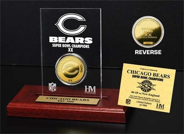 Chicago Bears Chicago Bears SB Champs Etched Acrylic