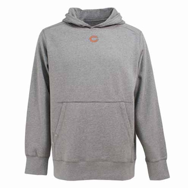 Chicago Bears Mens Signature Hooded Sweatshirt (Color: Silver)