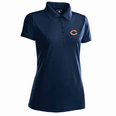 Chicago Bears Womens Pique Xtra Lite Polo Shirt (Color: Navy)