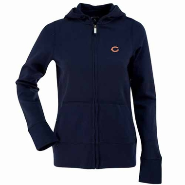 Chicago Bears Womens Zip Front Hoody Sweatshirt (Color: Navy)