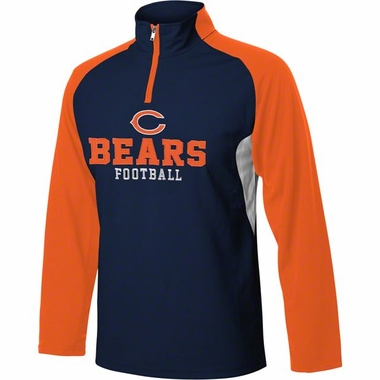Chicago Bears YOUTH 1/4 Zip Lightweight Pullover Jacket