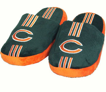 Chicago Bears YOUTH Team Stripe Slide Slippers - Large