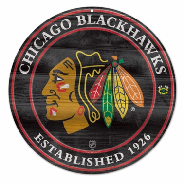 Chicago Blackhawks 19.75 Inch Wood Sign
