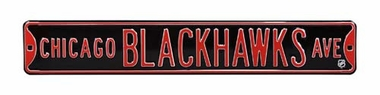Chicago Blackhawks Ave Street Sign