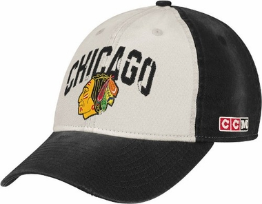 431e0347e Chicago Blackhawks CCM Throwback Adjustable Slouch Hat