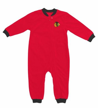 Chicago Blackhawks Fleece Toddler Sleeper Pajamas