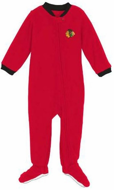 Chicago Blackhawks Infant Footed Sleeper Pajamas