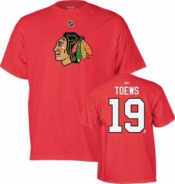 Chicago Blackhawks Jonathan Toews Name and Number T-Shirt