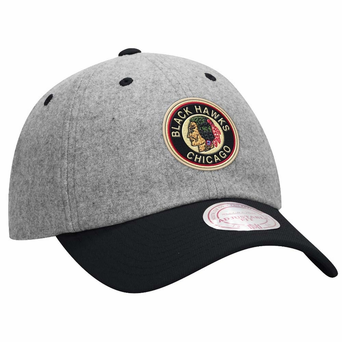 3770675d06ee6 Chicago Blackhawks Mitchell   Ness Vintage Wool Slouch Adjustable Hat