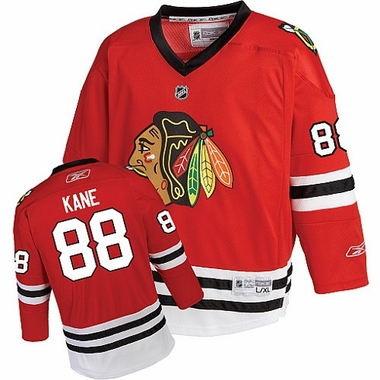 Chicago Blackhawks Patrick Kane Youth Team Color Replica Jersey