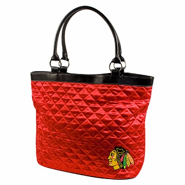 Chicago Blackhawks Quilted Tote