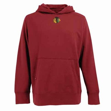 Chicago Blackhawks Mens Signature Hooded Sweatshirt (Color: Red)