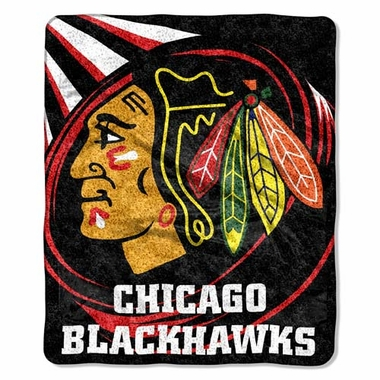 Chicago Blackhawks Super-Soft Sherpa Blanket