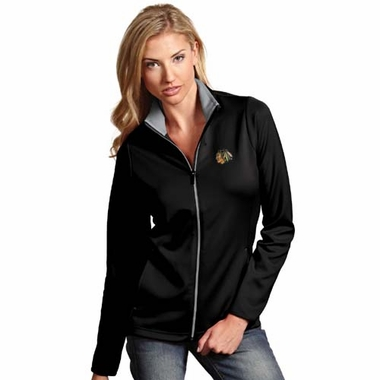Chicago Blackhawks Womens Leader Jacket (Color: Black)