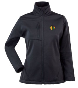 Chicago Blackhawks Womens Traverse Jacket (Color: Black) - Small