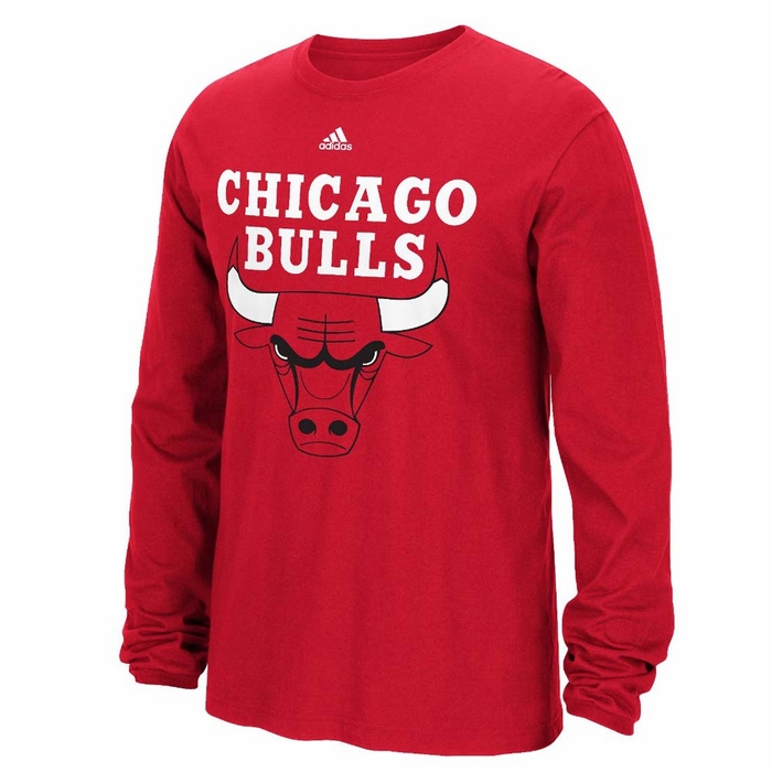 chicago bulls adidas preferred logo mens long sleeve t shirt x large. Black Bedroom Furniture Sets. Home Design Ideas