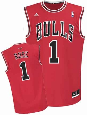 Chicago Bulls Derrick Rose Team Color Revolution Replica Jersey