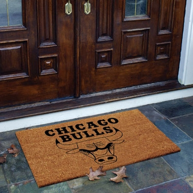 Chicago Bulls Flocked Coir Doormat