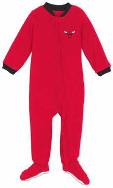 Chicago Bulls Infant Footed Sleeper Pajamas