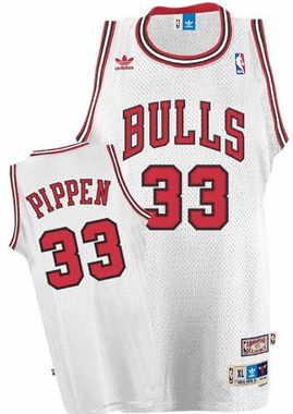 Chicago Bulls Scottie Pippen Adidas White Throwback Replica Premiere Jersey